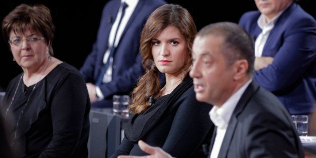 Marlène Schiappa et Mourad Boudjellal sur le plateau