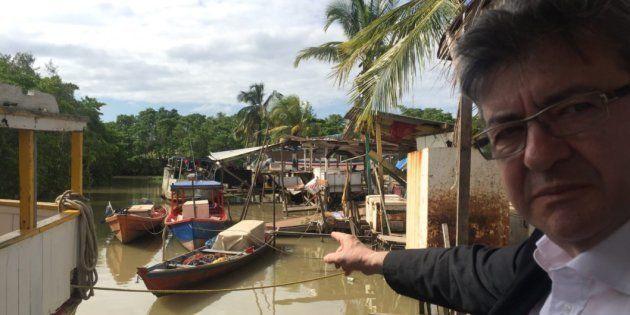 Le député et chef de file de la France insoumise Jean-Luc Mélenchon a passé plusieurs jours en Guyane...
