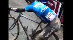 L'abnégation de ce cycliste force le