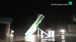 L'ouragan Florence a totalement balayé cette station essence en Caroline du