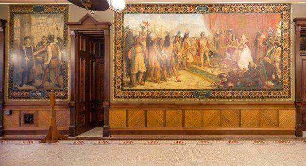 Ces fresques du XIXe siècle sont l'œuvre de Luigi