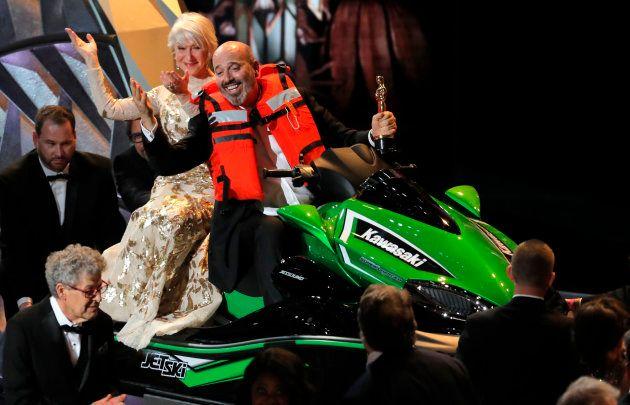 Oscars 2018: Mark Bridges reçoit le Jet Ski offert au discours le plus court de la
