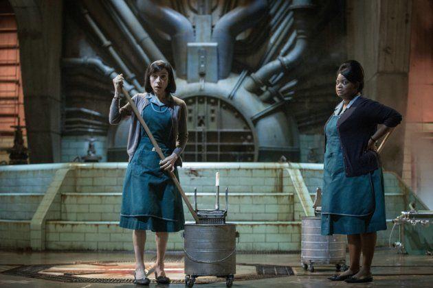 Elisa (Sally Hawkins) et Zelda (Octavia Spencer), deux femmes de ménage employées dans un centre de recherche