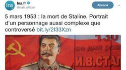 Le tweet de l'INA pour l'anniversaire de la mort de Staline ne passe