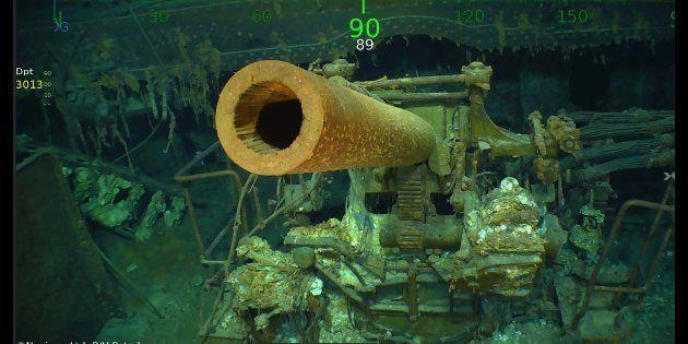 L'épave de l'USS Lexington, porte-avion américain coulé en 1942 a enfin été