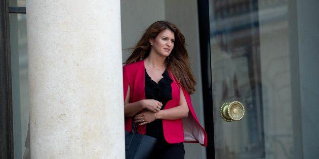 Marlène Schiappa menacée sur un tag à Paris (Photo prise le 23 mai