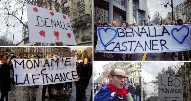 Plusieurs imposteurs affichant des pancartes ou des discours provocateurs ont réussi à infiltrer la marche...