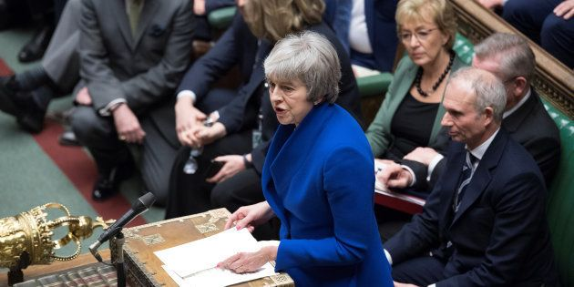 Theresa May au Parlement le 16