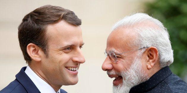 Emmanuel Macron et Narendra Modi à l'Elysée en juin
