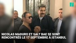 Nicolas Maduro mange chez