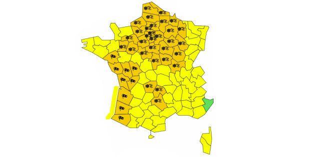 À 10h ce mardi 29 janvier, 43 départements étaient placés en vigilance orange par Météo