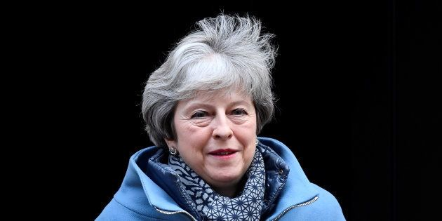 Theresa May quittant Downing Street le 23 janvier