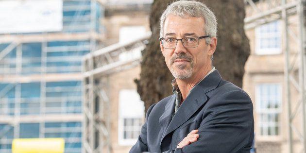 L'océanographe David Mearns lors d'un festival littéraire à Édimbourg en Écosse en août