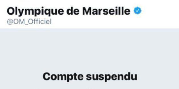OM: Le compte Twitter de l'Olympique de Marseille suspendu à cause d'un