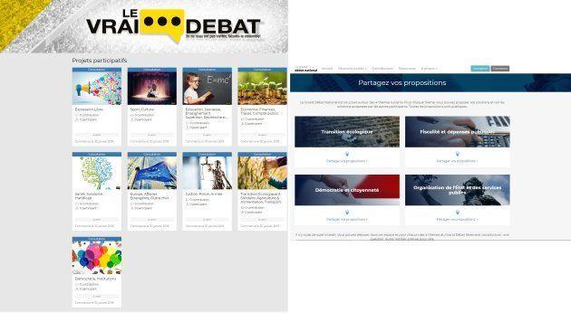 Le vrai débat des gilets jaunes et le grand débat du gouvernement utilisent la même plateforme technique,...