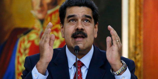 Venezuela: Nicolas Maduro se dit favorable à des législatives anticipées (Photo prise le 25 janvier