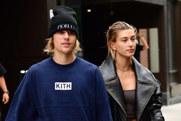 Justin Bieber et Hailey Baldwin sortant du palais de justice de New-York, le 14
