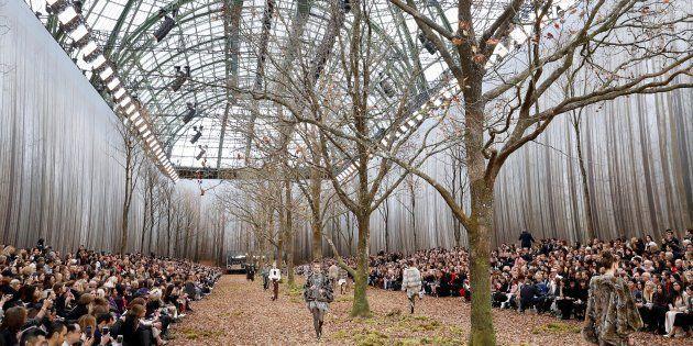 Le défilé Chanel et ses arbres coupés ont déçu la FNE