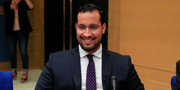 Alexandre Benalla pendant son audition devant la commission d'enquête du