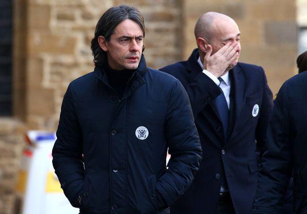 La légende du football italien, Filippo Inzaghi aux funérailles de Davide