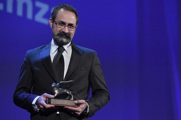 Director Vahid Jalilvand receives the Orizzonti Award for Best Director with the movie