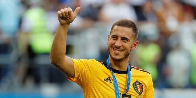 Eden Hazard après Belgique-Angleterre à Saint-Pétersbourg lors du Mondial le 14 juillet