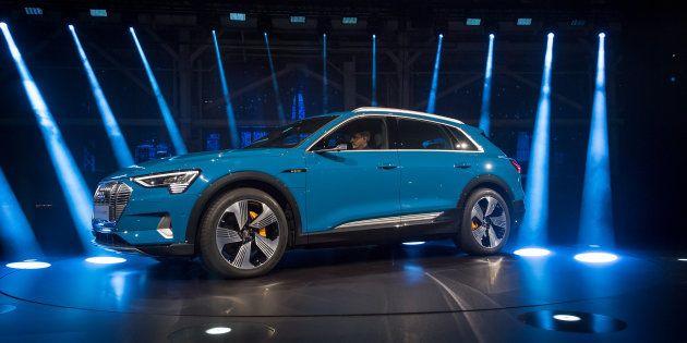 Le nouveau SUV électrique Audi e-tron présenté à Richmond en Californie le 17 septembre