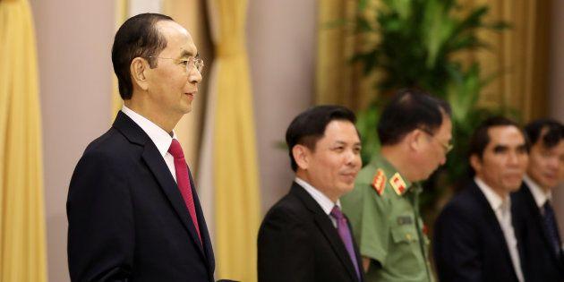 Le président vietnamien Tran Dai Quang (à