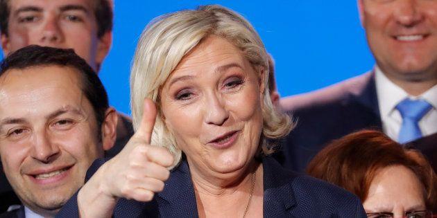 Marine Le Pen le 1er mai 2018, à