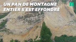 Les images du gigantesque glissement de terrain qui a fait une vingtaine de morts après
