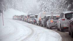 La neige en Savoie a coincé 600 personnes, hébergées en