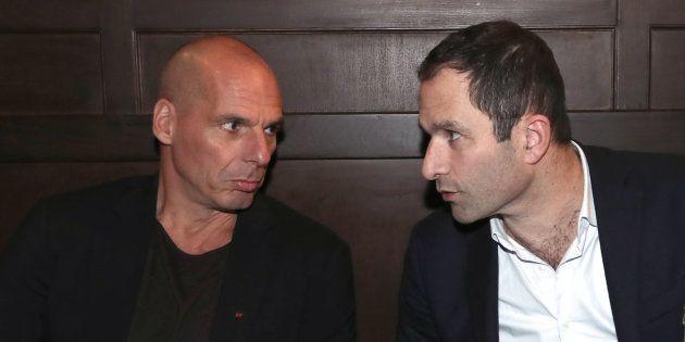 Benoît Hamon et Yanis Varoufakis lors d'une précédente rencontre, début 2018 à