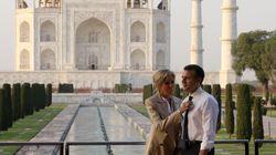 Les images de l'escapade romantique du couple Macron au Taj