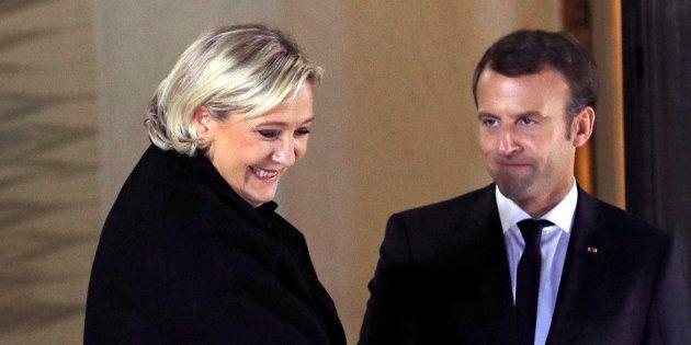 Marine Le Pen qui avait rencontré Emmanuel Macron en novembre 2017 estime que faire un référendum le...