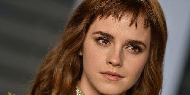 Emma Watson lors de la soirée Vanity Fair qui fait suite aux Oscars, le dimanche 4 mars
