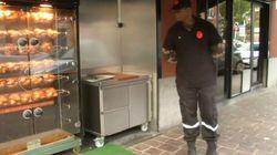 À Lille, des agents de sécurité postés devant des boucheries pour la journée d'action