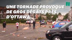 Une tornade fait des ravages en pleine ville près