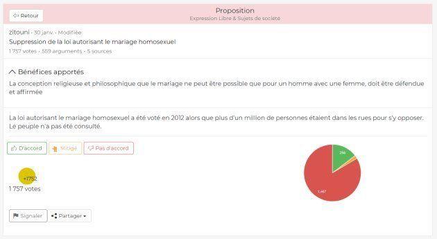 La proposition sur le mariage pour tous dans le vrai