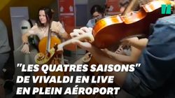 L'orchestre de Genève a profité du retard de son avion pour offrir un concert