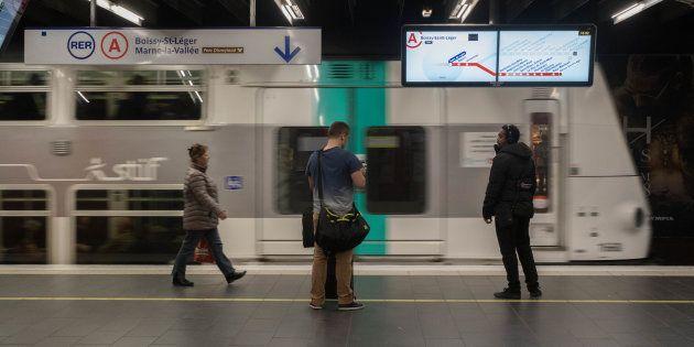 Le quai du RER A à la station Gare de Lyon