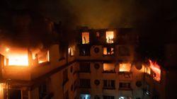 L'incendie à Paris filmé par les