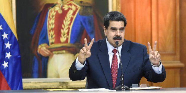 Nicolas Maduro a ironisé sur l'attitude américaine et plus généralement occidentale vis-à-vis de la situation...