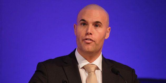 Joram Van Klaveren, en 2015. Présent au congrès du UK Independant Party, il prônait à l'époque les idées...