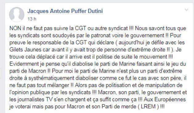 Jérôme Rodrigues, le martyr des gilets jaunes prend du recul après des