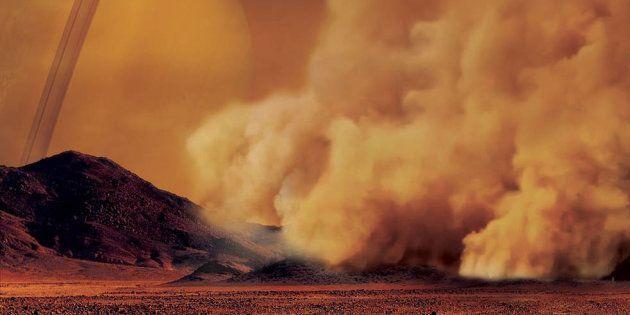 On a découvert une tempête de sable sur Titan, la lune de Saturne (photo d'illustration: vue d'artiste...