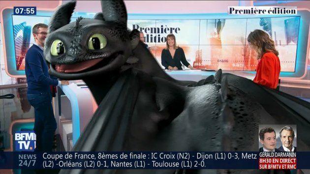 Les équipes de DreamWorks ont donné vie au gentil Dragon pour faire la promotion du film