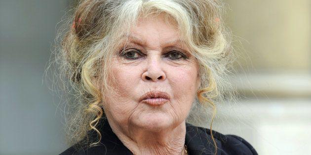 Européennes: Brigitte Bardot candidate sur la liste du Parti animaliste (Photo prise au Palais de l'Elysée,...