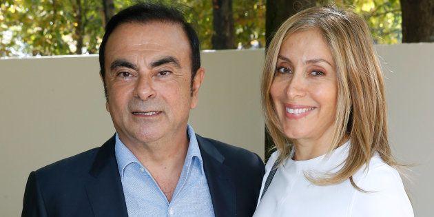 Le mariage de Carlos et Carole Ghosn (ici en octobre 2016 à Paris) constitue-t-il un abus de bien social?...