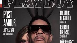 Premier homme à faire la Une du Playboy français, JoeyStarr sort les oreilles de