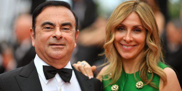 Carlos Ghosn et sa femme, Carole, ici au festival de